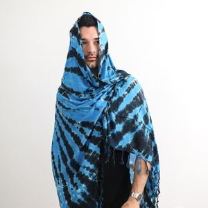 3e29adca0a3 Authentic Indonesian Sarong (BLU Tie-Dye - Unisex)